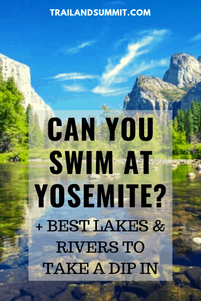 swimming in yosemite