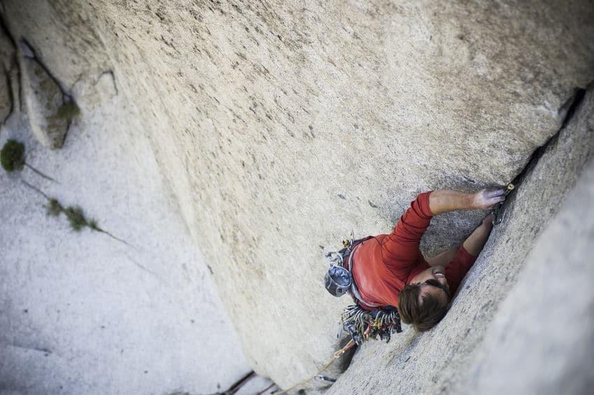 Man Climbing Little Cottonwood
