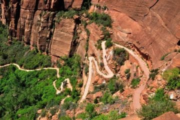 hiking trail switchback