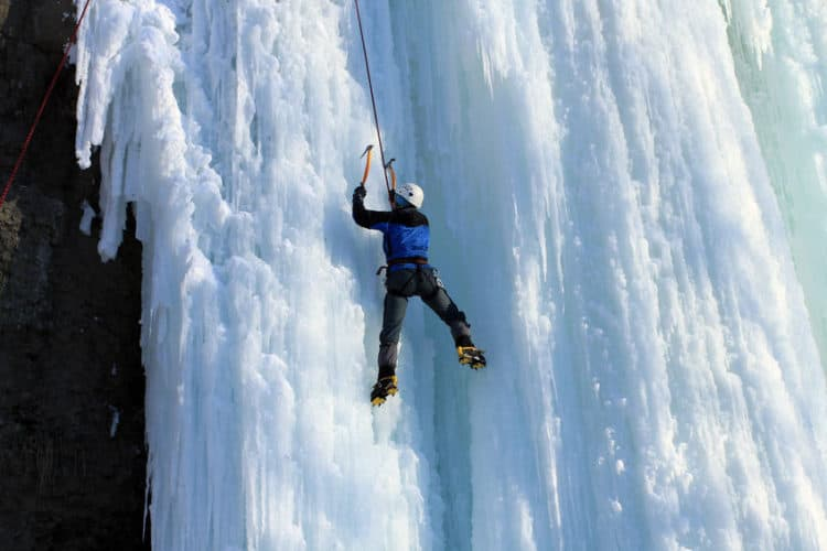 how hard is ice climbing