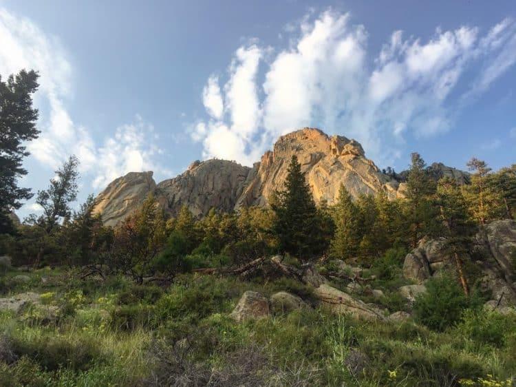 rock climbing at lumpy ridge