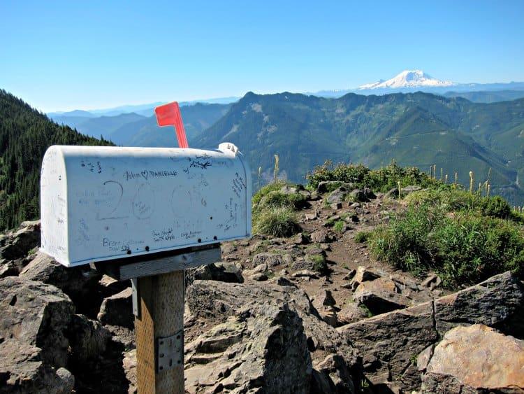 view from summit of mailbox peak