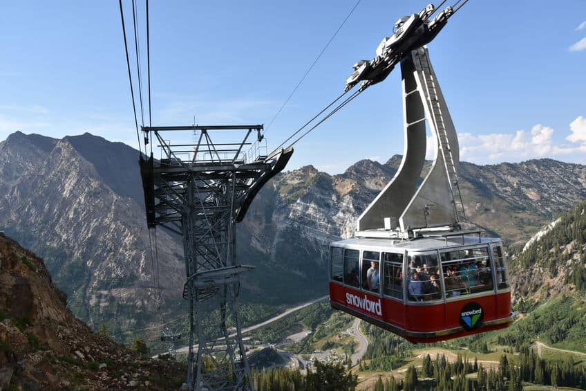 snowbird aerial tram for summer