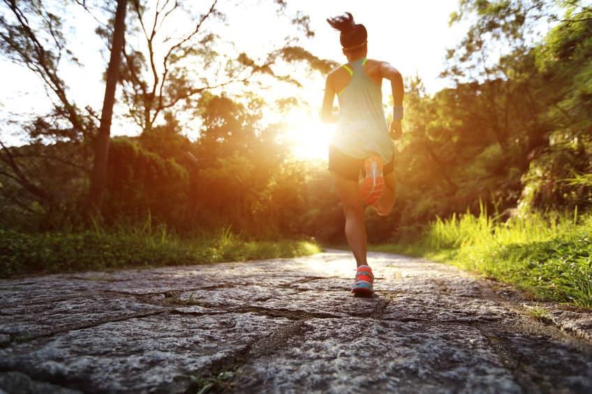 trail vs road running speed
