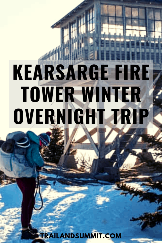 My Kearsarge Fire Tower Winter Overnight Trip