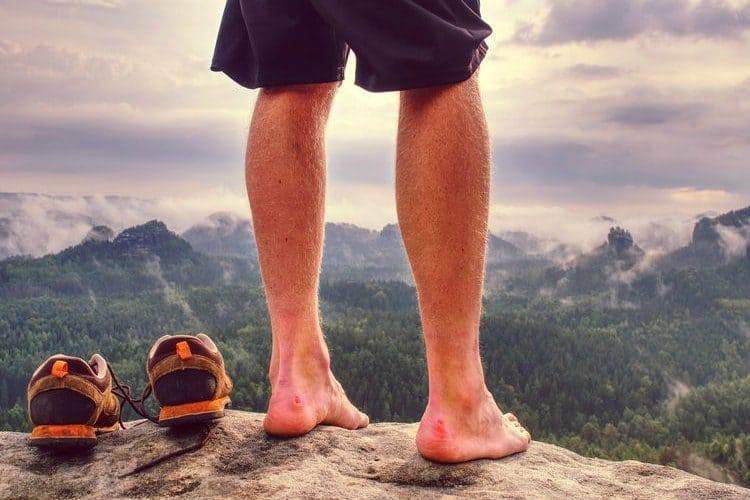 Leukotape for hiking and running blisters
