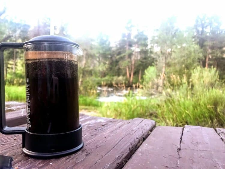 What is the best way to make coffee while camping