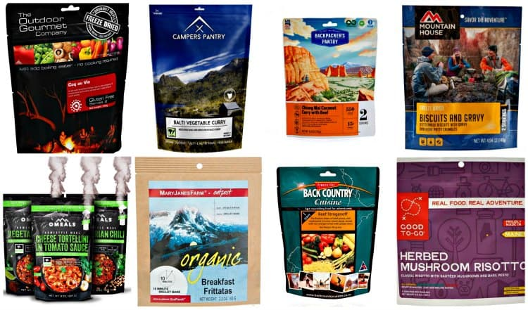 freeze dried camping food