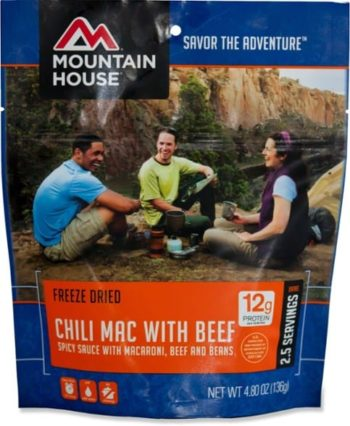 bag of mountain house backpacking food