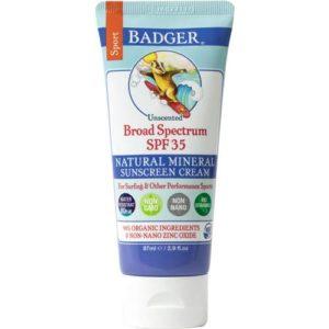 tube of badger balm sunscreen for trekking