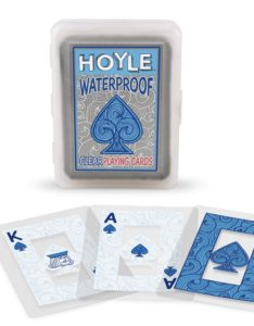set of clear waterproof playing cards