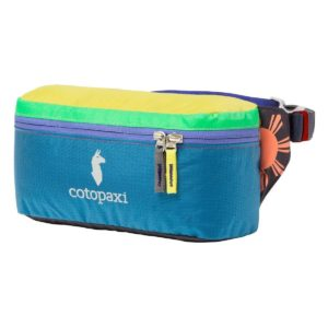 multi-colored fanny pack