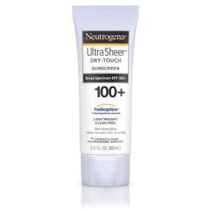 tube of Neutrogena sunscreen for trekking