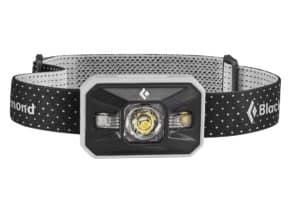 black and white rectangular headlamp