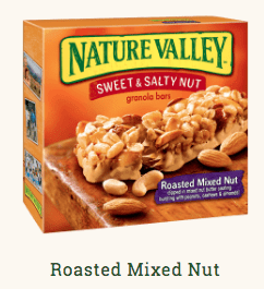 nature valley cheap high calorie bar