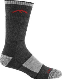 black and grey darn tough sock