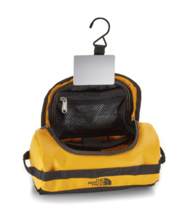 yellow mini north face duffle toiletry case gifts for travelers