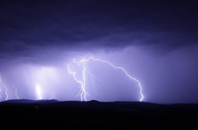 lightning strike hiking in the rain