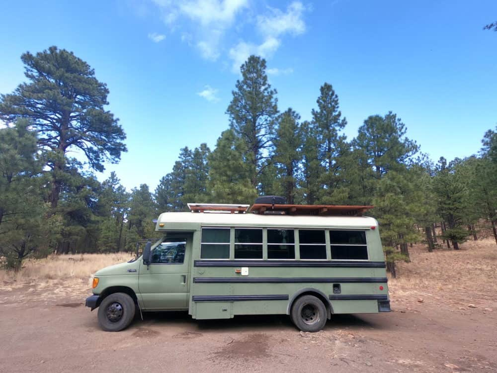 example of a 22 foot skoolie bus conversion