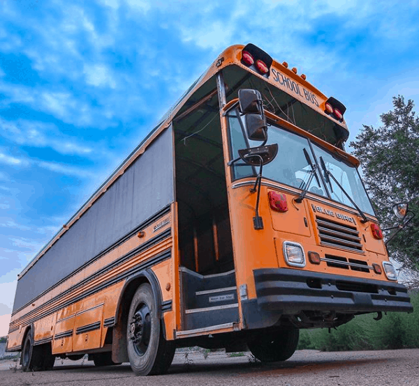 exterior of a school bus