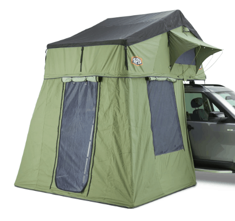 green tent on silver SUV