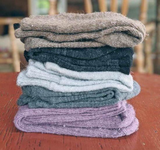 pile of wool socks
