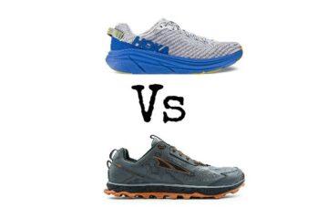 altra vs hoka trail running shoes