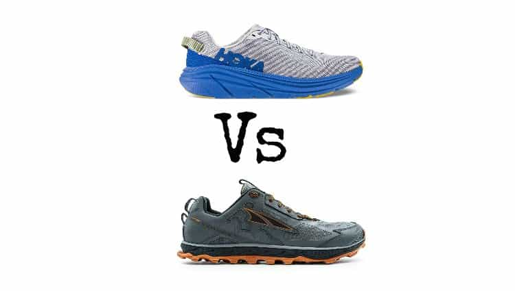altra vs hoka trail running shoes