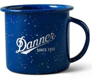 blue mug with danner logo on white background