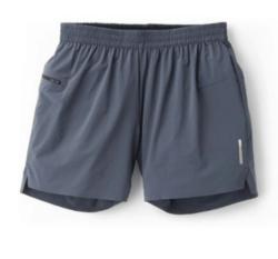 gray hiking shorts on white background