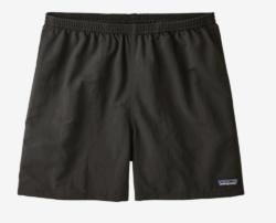 black hiking shorts on white background