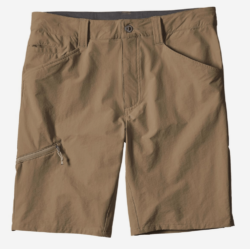brown shorts on white background