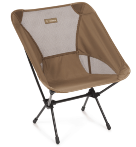 brown camping chair on white background