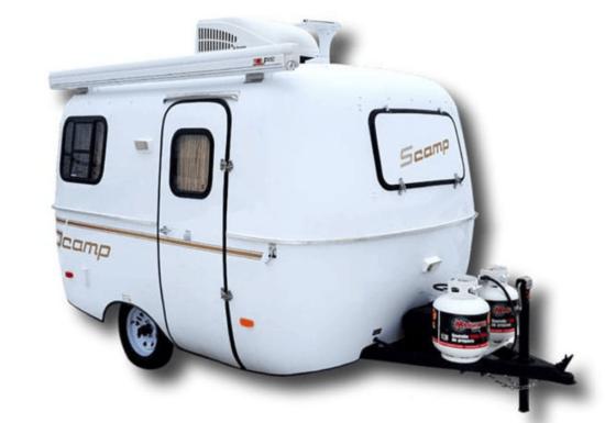 white trailer on white background