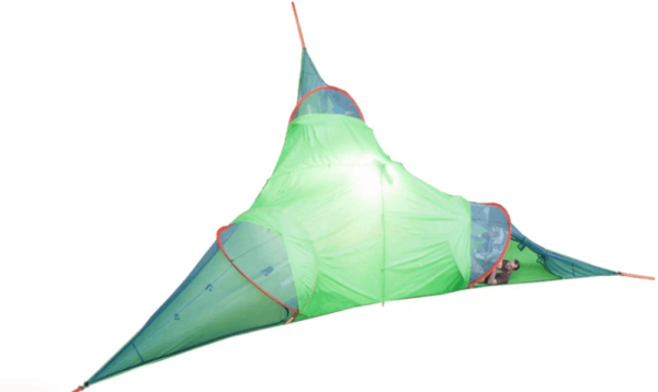 green tree tent on white background