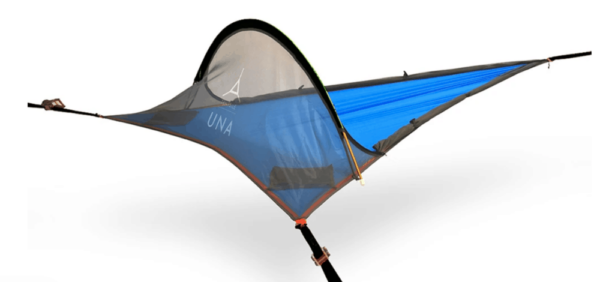 blue tree tent on white background