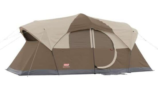 brown tent on white background