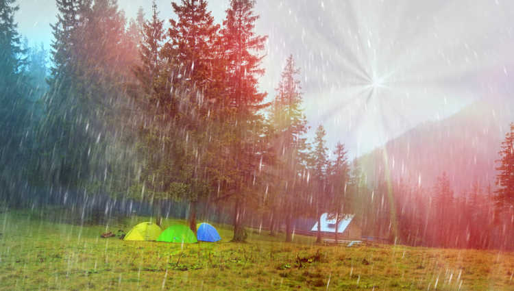 what to do on a rainy day while camping